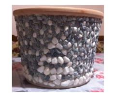 Mosaik-Blumentöpfer