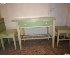 Retro Küche und Schlafzimmer Set